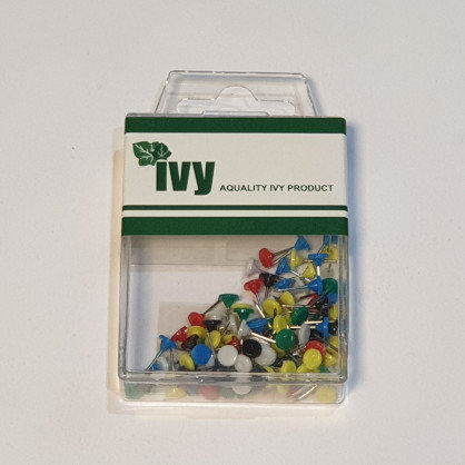 Ivy 100 Coloured Map Pins