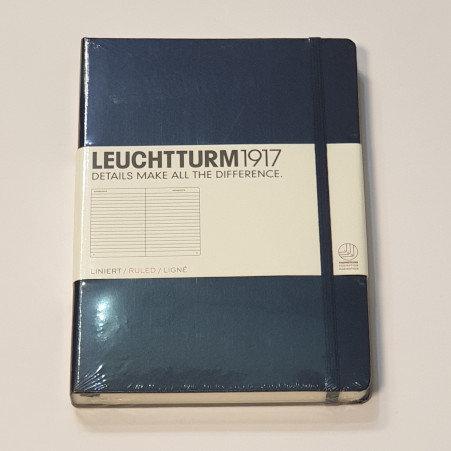 Leuchterm A5 Medium Notebook Hardback Navy