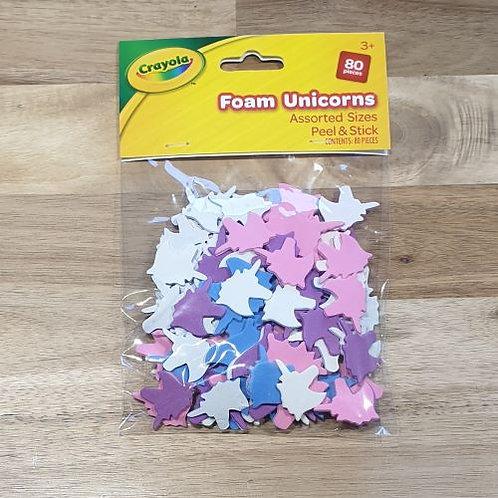 Crayola Foam Unicorns Assorted Sizes