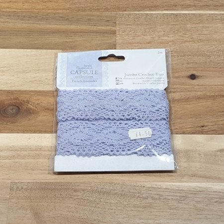 docrafts Papermania Jumbo Crochet Trim Purple