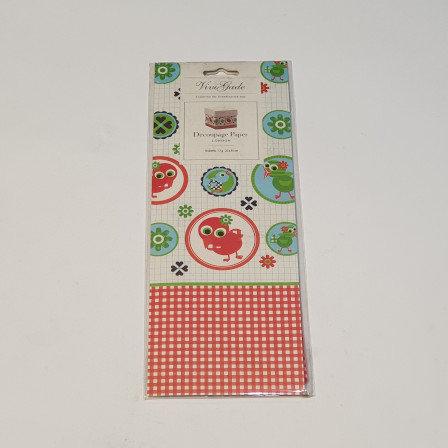 ViviGade Decopatch Paper 10 Sheets London Chicks
