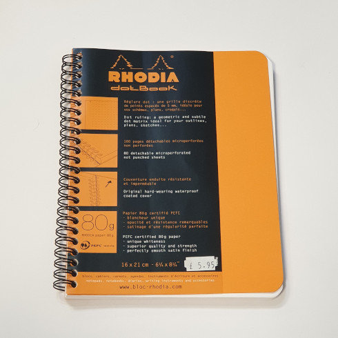 Rhodia Orange A5 Notebook
