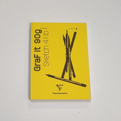 Clairefontaine Graf It 90g Sketch 411b Medium Yellow