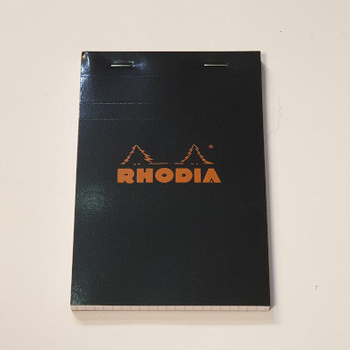 Rhodia Black Lined No16