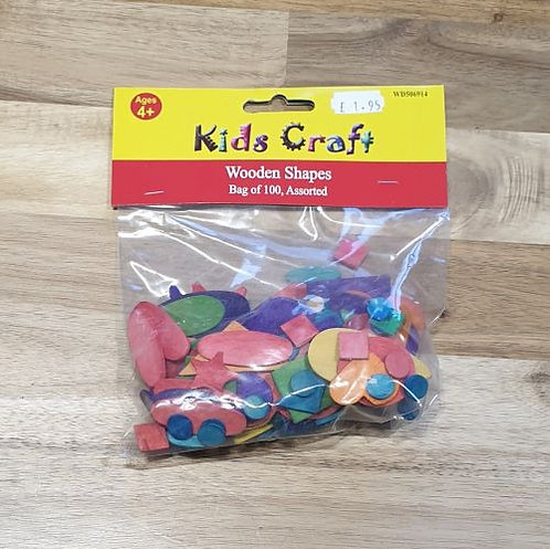 Kids Craft Wooden Shapes Assorted