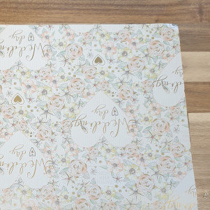 sass & belle Wedding Day Gift Wrap Paper