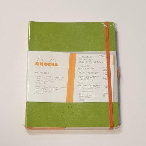 Rhodia Green Perpetual Planner 14.8x21cm