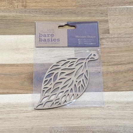 docrafts Papermania Bare Basics Wood Shapes Leaf