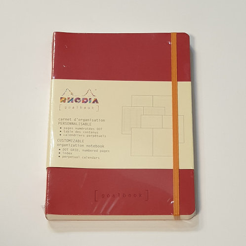 Rhodia Red Soft-Cover Organisation Notebook 14.8x21cm