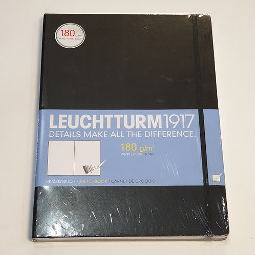 Leuchterm A4 Sketchbook 180gsm Black
