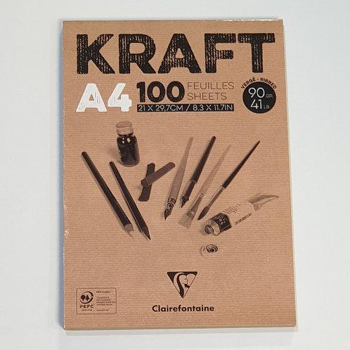 Kraft A4 100 Sheets Notebook