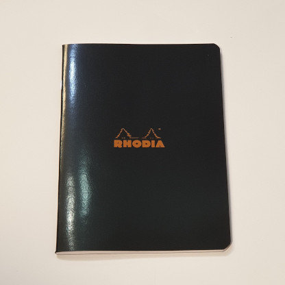 Rhodia Black Square Notebook 14.8x21cm