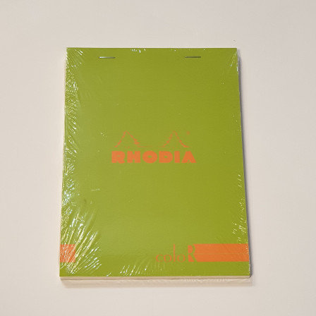 Rhodia Green Bloc Colour No16 Lined Notebook