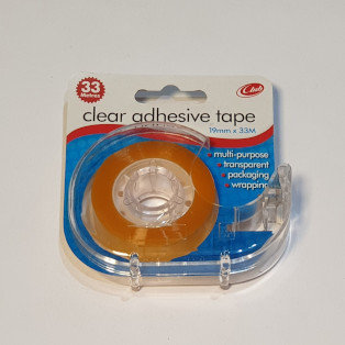 Clear Adhesive Tape & Dispenser 19mmx33m