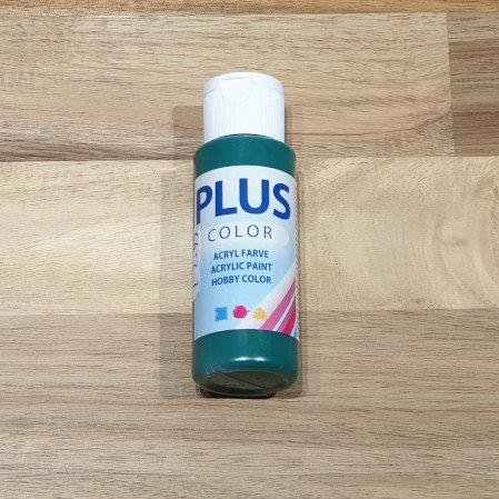 Plus Color Acrylic Paint Dark Green 60ml