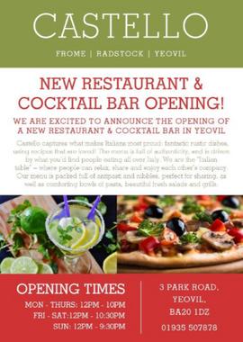 Castello New Restaurant Poster