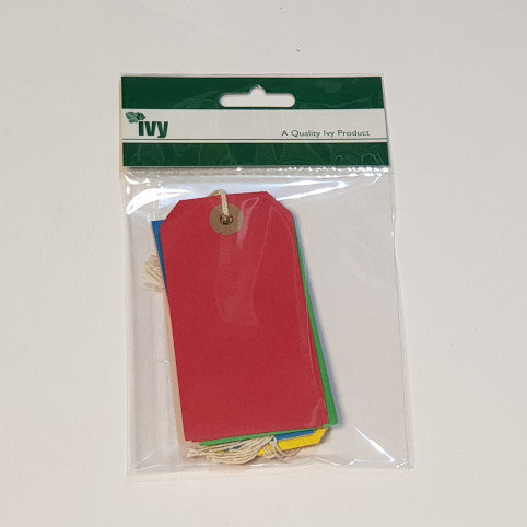 Ivy 10 Assorted Colour Tags 55x108mm