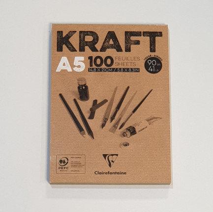 Kraft A5 100 Sheets Notebook