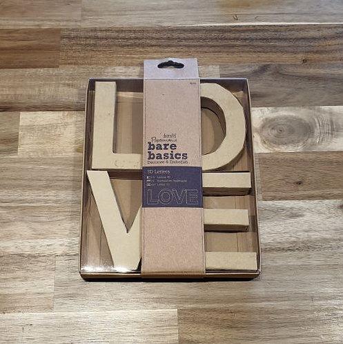 docrafts 3D Lettering LOVE