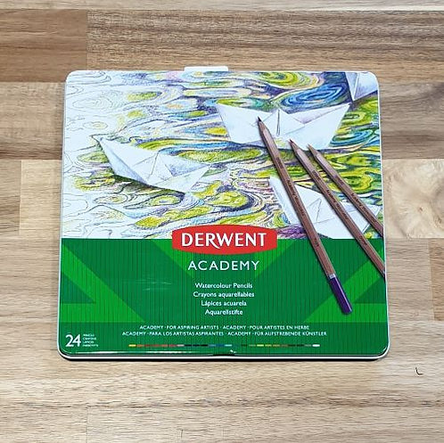 Derwent Academy Watercolour Pencils 24 Pk