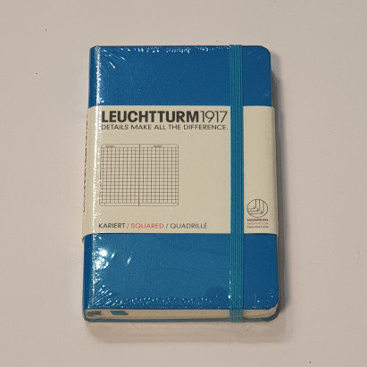 Leuchterm A6 Pocket Notebook Hardback Azure