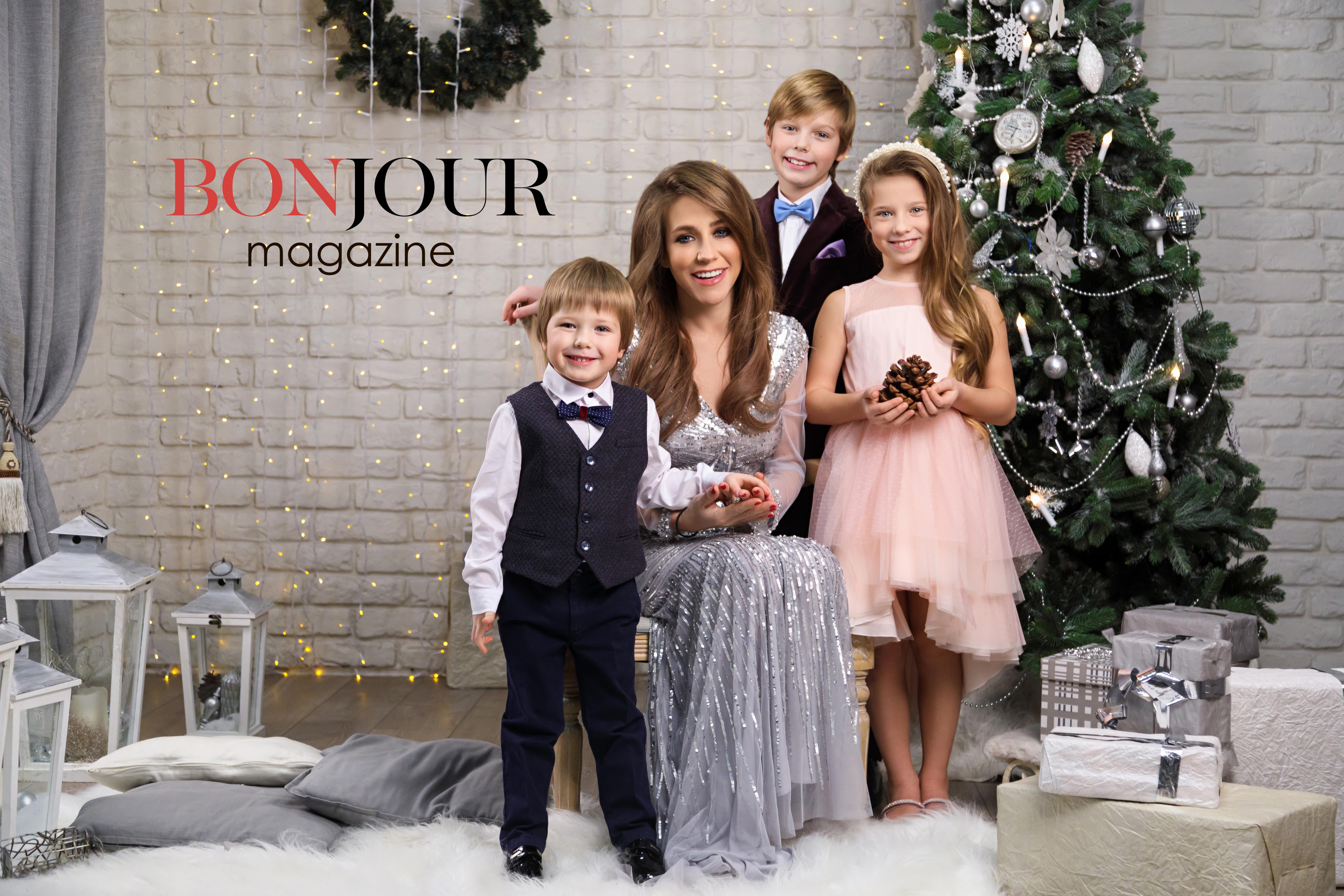 Юлия Барановская с детьми