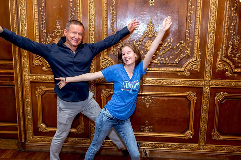Олег Климов с дочкой Александрой