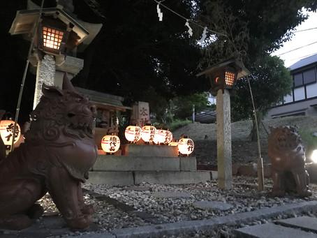令和3年度献灯神事「津島祭 迎え」を斎行