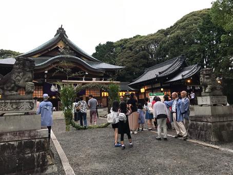 7/19 成海神社様にて夏越祭・茅の輪くぐりのご案内