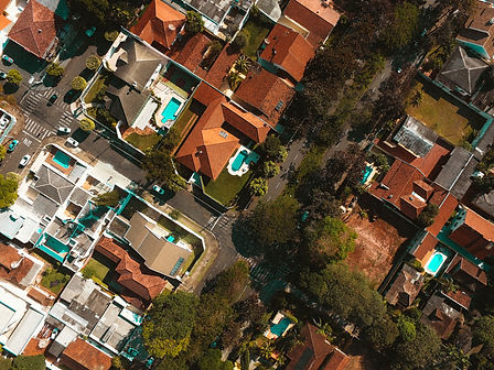 Letecký pohled na sousedství