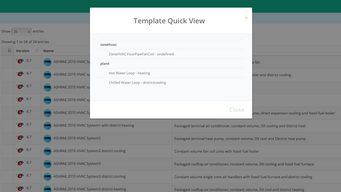 BuildSimHub Templates, A New Way To Version Control Systems in An Energy Model