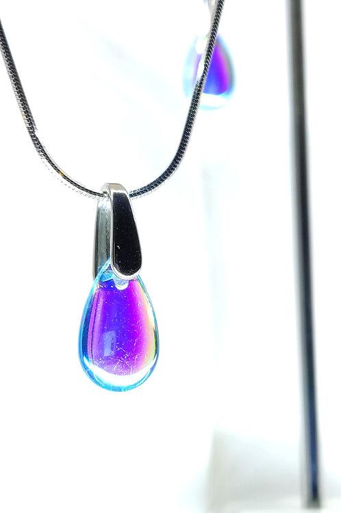 collier goutte Blue drop