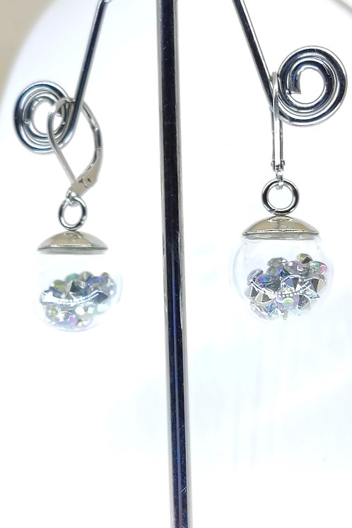 small bubble earring AB