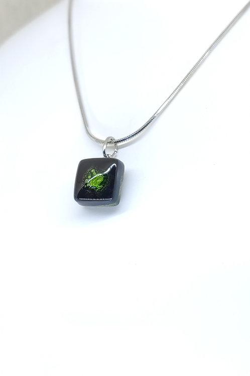 small square necklace Esméralda
