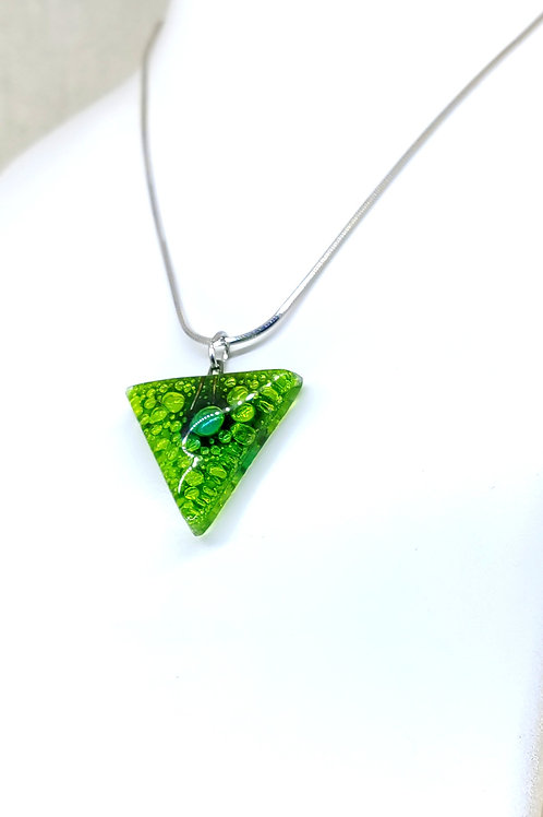 Lagoon triangle necklace