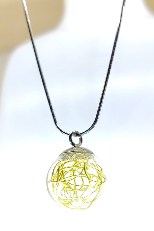 collier bulle Dorée