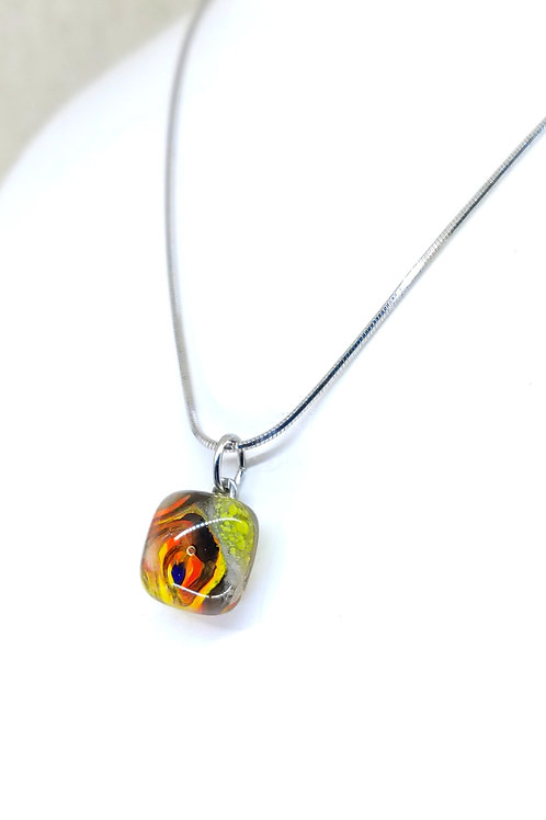 small square Miró necklace