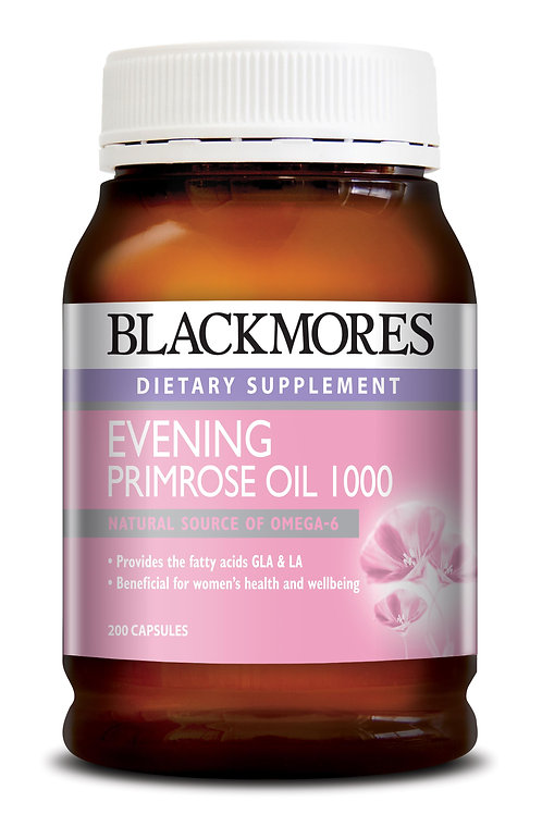 Blackmores Evening Primrose Oil 1000mg 200Capsules (₱13.82/Cap) - EXP Jul 2020