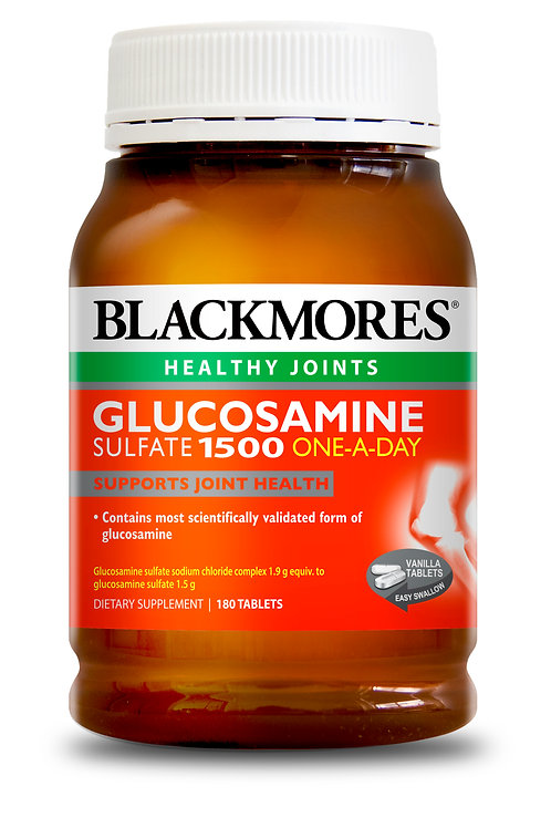 Blackmores Glucosamine Sulfate 1500MG 180 Tablets(₱21.66/Tab)Exp Jul 2022