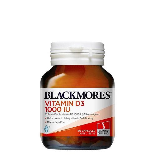 Blackmores Vitamin D3 1000IU 60 Tablets (₱11.78/Tab)-Exp Jun 2023