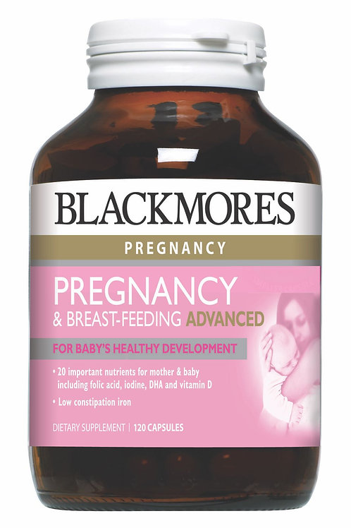 Blackmores Pregnancy & Breast-Feeding Advanced 120 Tablets (₱24/Tab) EXPJul21