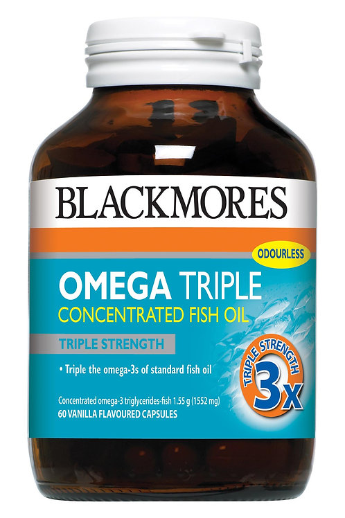 Blackmores Omega Triple Concentrated Fish Oil 60 Capsules (₱45/Cap) Jul 2021