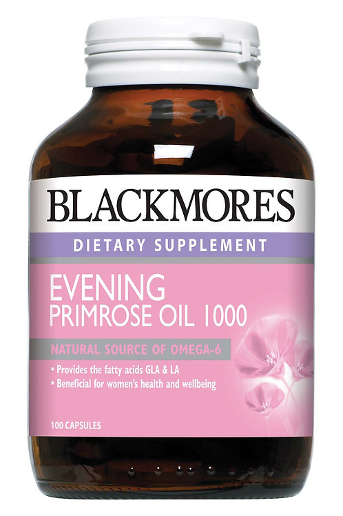 Blackmores Evening Primrose Oil 1000mg 100 Capsules (₱17.59/Cap) Exp Jul 2021