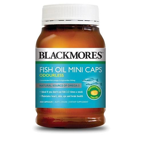 Blackmores Odourless Fish Oil Minis 400 Capsules (₱7.15/Cap) EXP Jul2022
