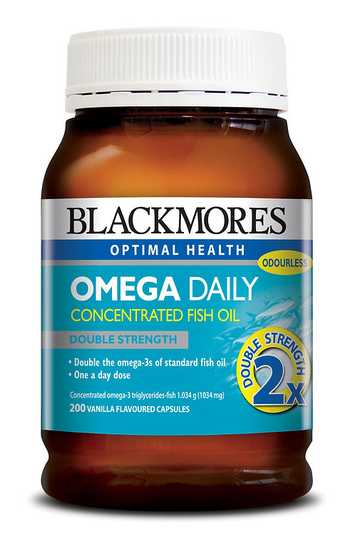 Blackmores Omega Daily 200 Capsules (₱20.73/Cap) EXP Jul2021