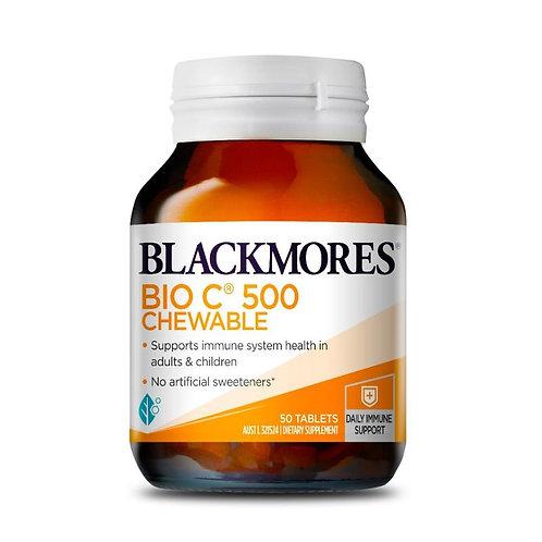 Blackmores Bio C Chewable 500mg 50 Tablets (₱12.80/Tab) - EXP -Apr2022