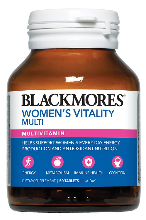 Blackmores Women's Vitality Multi 50 Tablets (₱45.68/Tab) EXP Aug 21