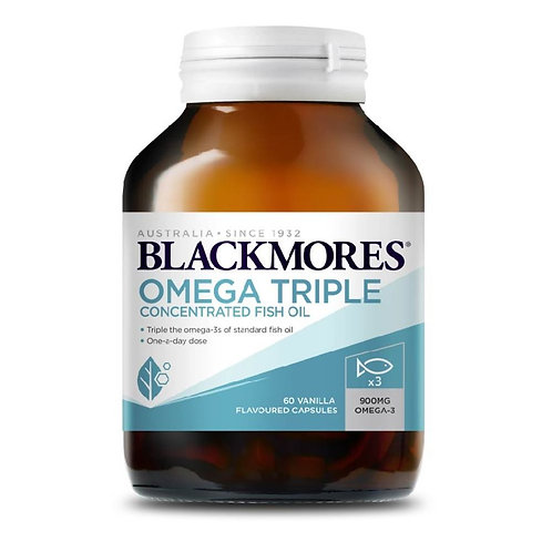 Blackmores Omega Triple Concentrated Fish Oil 60 Capsules (₱30.82/Cap) May 2023