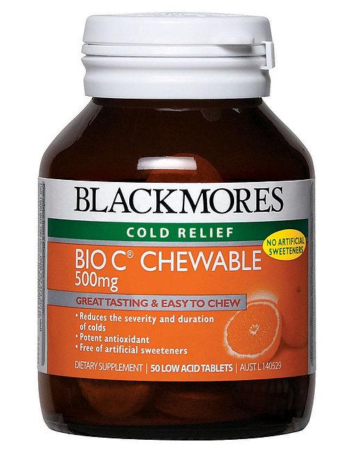 Blackmores Bio C Chewable 500mg 50 Tablets (₱13.40/Tab) - EXP -Sep2020