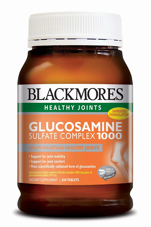 Blackmores Glucosamine Sulfate Complex 1000MG 200 Tablets(₱15.28/Tab)